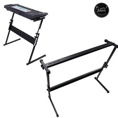 Glarry Keyboard Stand Z Style Type Adjustable Electronic Piano Organ Rack Black