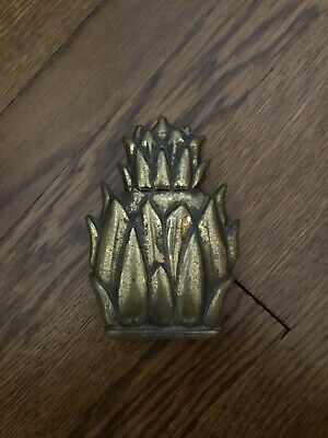 Antique Brass Pineapple Door Knocker, 5.5 Inches, Great Patina !
