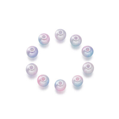 100PCS ABS Plastic Imitation Pearl Beads For DIY Bracelet Jewelry Making Round