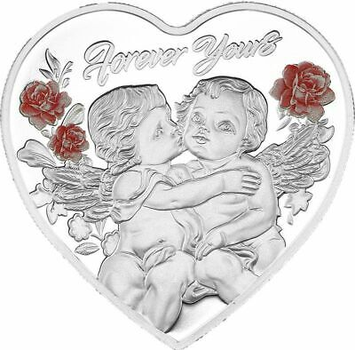 2019 Forever Yours Silver Heart-Shaped Coin