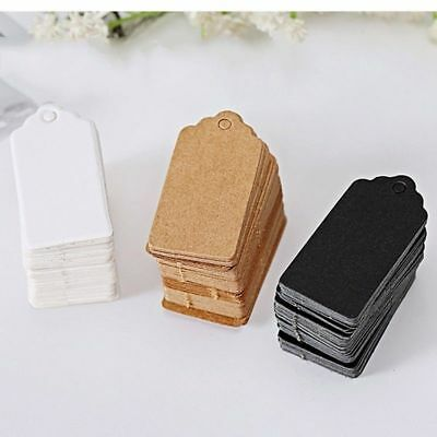 100Pcs Blank Kraft Hang Tags Wedding Party Label Classical Design Individual