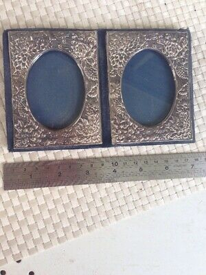 Antique Double Silver Photo Frame Chinese