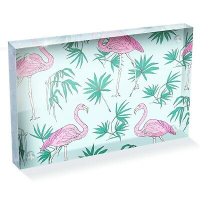"Tropical Flamingo Pink Bird Photo Block 6 x 4"" - Desk Art Office Gift #13047"