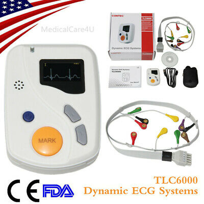 CE Handheld ECG Holter 48 Hours Dynamic EKG Recorder USB 12 channel 12 leads+CD