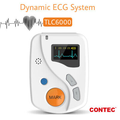 New TLC6000 48 Hours Dynamic ECG Holter 12 Channel ECG Machine Recorder Software