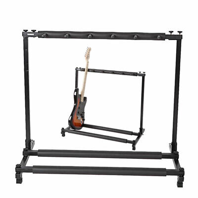 5 Multi Guitar Stand Foldable Acoustic Electric Bass Guitar Rack