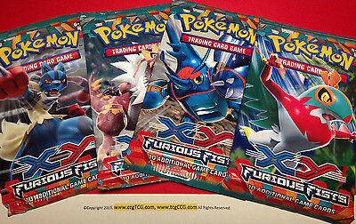 4 X Pokemon XY Furious Fists Booster Packs (10 Cartes / Pack) - Usine Scellé