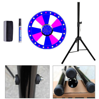 """24"""" Dry Erase Floor Prize Wheel Tripod Stand Party Fortune Spinning Win Game PVC"""