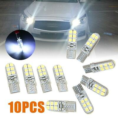 10x T10 W5W 12SMD 2835 chip LED White Car Side Wedge Tail Light Lamp Hot T4S9