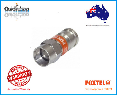 RG6 F Type Compression Crimp Connector For Coaxial Cable Foxtel Approved F30574