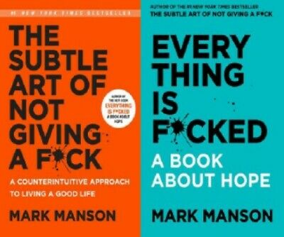 The Subtle Art of Not Giving A F*ck & Everything Is F*cked by Mark Manson NEW
