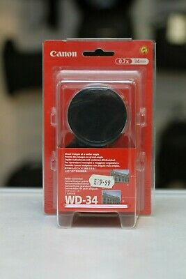 Canon WD-34 wide angle adapter