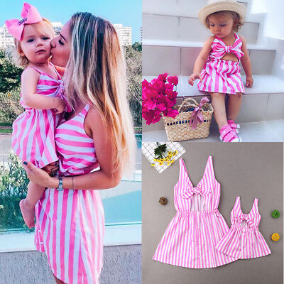cc23107038f4d MOTHER AND DAUGHTER Dress Striped Matching Mom Girls Madi Dress ...