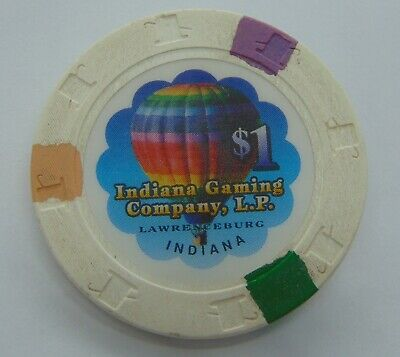 Casino Chip $1 Indiana Gaming Company Hot Air Balloon Poker Gambling