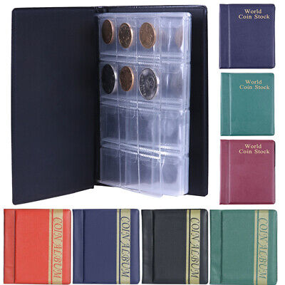 120 Album Coin Penny Money Storage Book Case Folder Holder Collection 3-Style UK