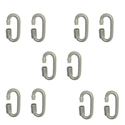 3.5mm 316 Stainless Steel Chain Quick Link Marine Grade Carabiner SWL-220KG