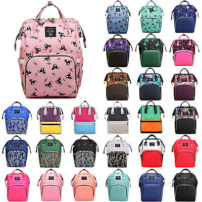 Multi-use Large Mummy Baby Diaper Nappy Backpack Mom Changing Travel Bag Handbag