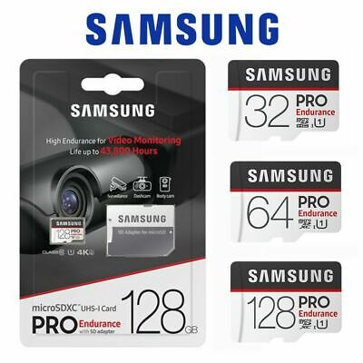 Samsung Pro Endurance 64GB 128GB 32GB Micro SD Card Surveillance DashCam 100MB/s