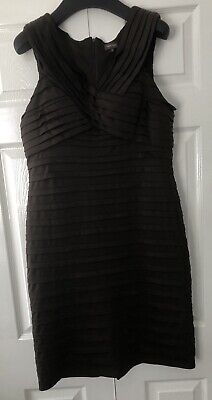 PHASE EIGHT brown ruched body con wiggle dress UK 16 - Wedding Races Party