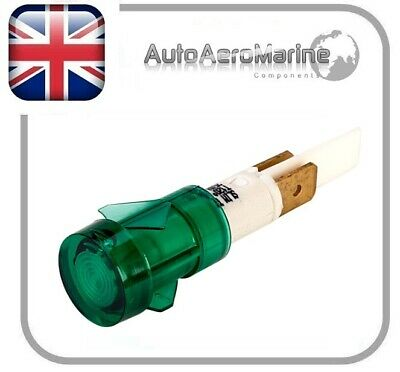 12mm 240V Green Neon Indicator with Tags