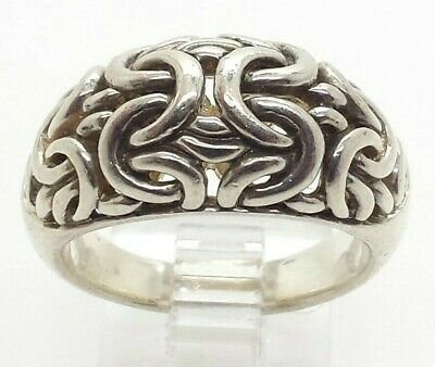 Modern Byzantine Dome Band Sterling Silver 925 Ring 10g Sz.9 NEW429