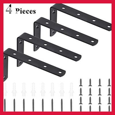 4 Pcs Stainless Steel Heavy Duty L-Shaped Right Angle Corner Brace Joint 5X3Inch