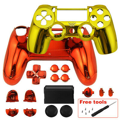 4feedc5c Full Housing Shell Case + Buttons Kit Replacement Parts For Sony PS4  Controller