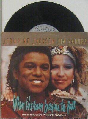 "Jermaine Jackson and Pia Zadora when the rain begins to fall / Suptitute , 7"" 45"