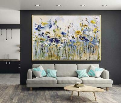 VV480 Modern Hand-Painted abstract Oil Painting on canvas Flowers and Plants
