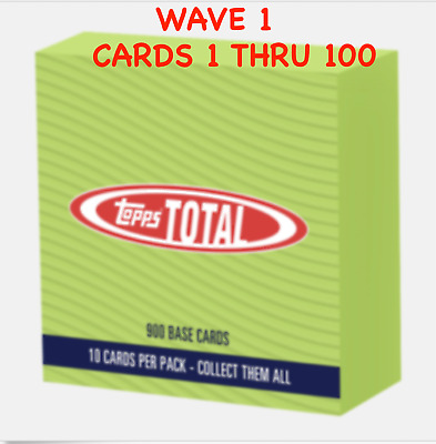 2019 Topps Total Wave 1 -  Singles Cards 1 To 100 Pick Your Cards Free Shipping