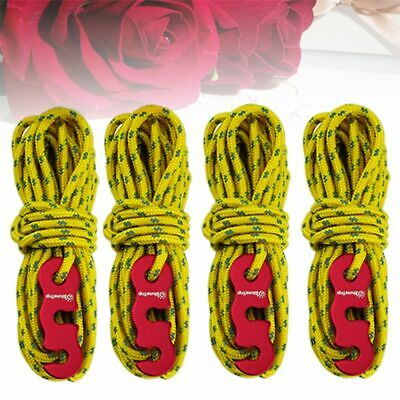 4pcs 3mm Camping Tent Awning Reflective Guyline Rope Runners Line Cord Paracord