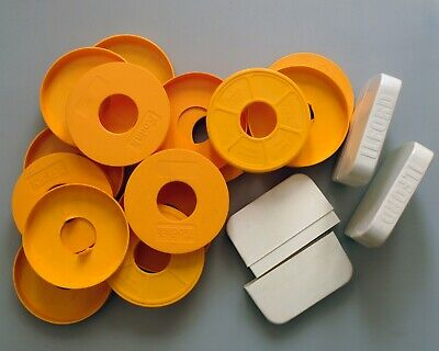 Kodak 8mm dust covers and Ilford boxes for 50ft reels.