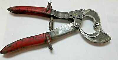 Klein Tools Ratcheting Cable Cutter Model 63060 10-1/4-Inch Well Used