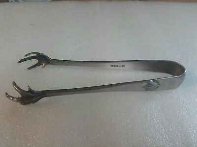 Sugar tongs Birds Talons Elkington Silver Vintage.