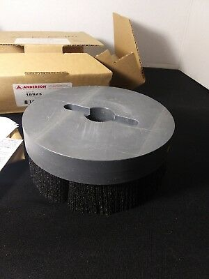 "ANDERSON PRODUCTS 18923 Disc Brush 6"" Diameter .055/80CG PVC Backing"