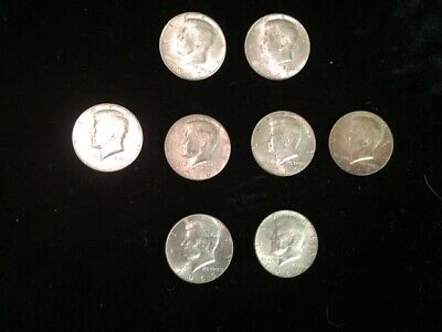 Kennedy Half Dollar Lot 1965-1967 (8 Coins) 40% Silver
