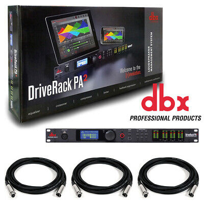 DBX DriveRack PA 2 x 6 PA Management Processor with Display & US. W/ 3 XLR Cable