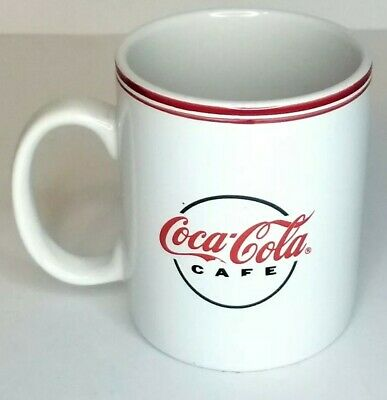 Coca Cola Coffee Mug Gibson 2002 Collectable Ceramic Cafe Logo White