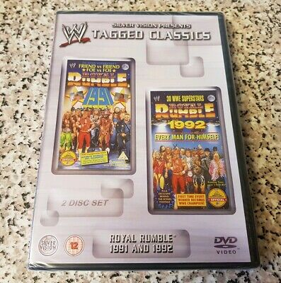 NEW & SEALED WWF WWE Royal Rumble 1991 91 & 1992 92 Tagged Classics DVD