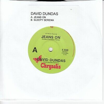 "DAVID DUNDAS - JEANS ON / SLEEPY SERENA 7"" 45rpm Vinyl Record"