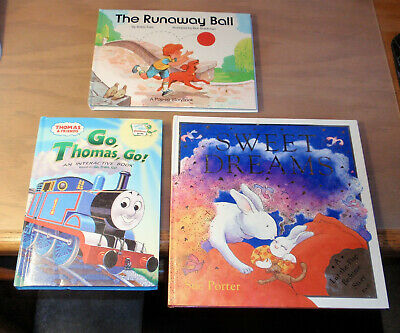 Lot of 3 Childrens Color Interactive Pop-Up Picture Story Books Thomas Train++