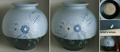 Large Weller Raceme Arts & Crafts Vase Hand Decorated by Hester Pillsbury RARE