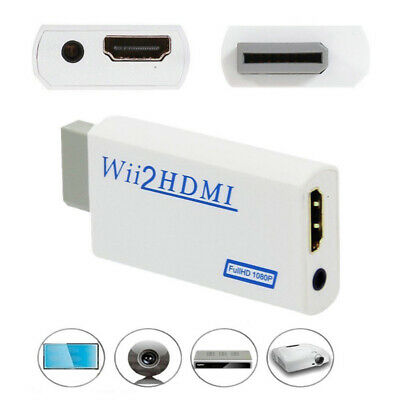 FHD 1080P Wii Input to HDMI Wii2HDMI Converter Adapter with 3.5mm Audio Output