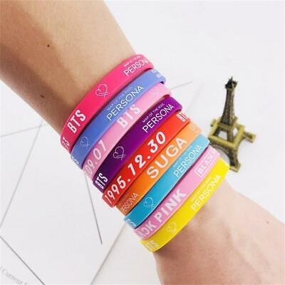 Kpop BTS Map of the Soul Persona Silicone Gym Wristbands Run Sport Bracelet 2pcs