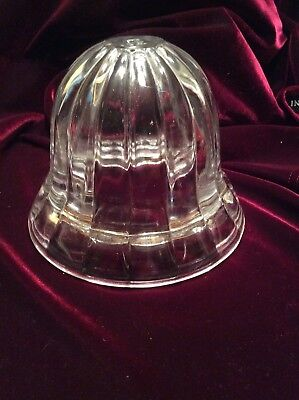 Vintage Art Deco Acorn Glass Light Cover Clear Ribbed