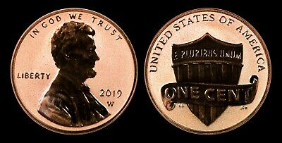 2019-W Reverse Proof Lincoln Cent - From 2019 Silver Proof Set - BEAUTIFUL GEM!