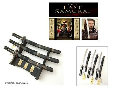 """Last samurai"" Japanese Samurai Sword set Collectible-Battle/Duty/Polite 17.5"""
