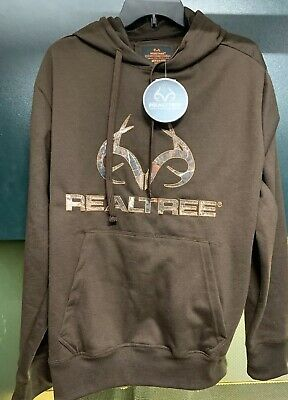 6bbf82a3 Realtree Antler Dark Brown Poly-Fleece Men's Pullover Hoodie Sweatshirt Size  M