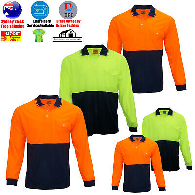 Hi-Vis Hooded Safety Workwear Fleece-lined Fleecy  Zip Hoodie Jacket Jumper AU