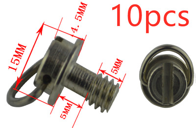 10pcs 1/4 inch Iron Camera Screw D ring for Tripod Monopod Quick Release Plate
